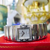Omega Constellation Quadra Diamond Stainless Steel Square...