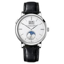 A. Lange & Söhne 384.026 Saxonia Moon Phase in White Gold...