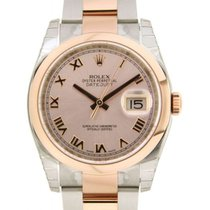 Rolex Datejust 36mm 116201 In Red Gold And Steel