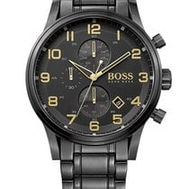 Hugo Boss 1513275 Aeroliner Chrono Black-Gold Edition 5ATM 44mm