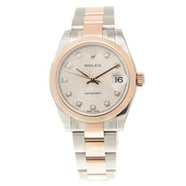 勞力士 (Rolex) Lady Datejust 18k Rose Gold And Steel Silver...