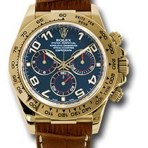 Rolex Daytona 116518 blabr Blue Dial  18K yellow gold