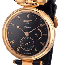 Bovet Fleurier Amadeo, Black Dial — Rose Gold on Strap AF43003