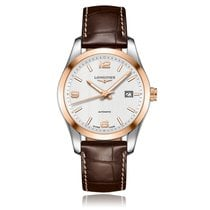 Longines Conquest Classic Automatic Steel & Rose Gold Mens...