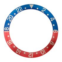Rolex Pepsi insert for plexi GMT, faded, fat font, serif