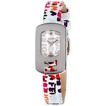 Fendi Chameleon White Dial Leather Strap Ladies Watch F3020240...