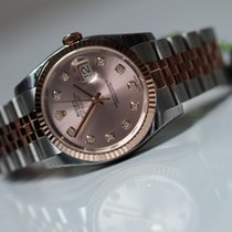 Rolex OYSTER PERPETUAL DATEJUST index diamants