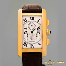 Cartier Tank  Americaine  Chronoflex 18K  Gold Chronograph BOX