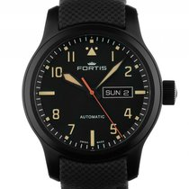 Fortis Aeromaster Stealth Stahl PVD Automatik 42mm