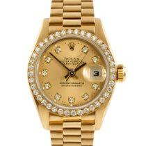 Rolex Ladies President Factory Champagne Diamond Dial/Bezel Crown