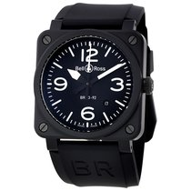 Bell & Ross Men's BR0392-BL-CE Aviation  Black Matte...