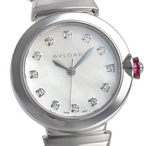 Bulgari LVCEA Automatic Steel Diamonds 33mm -SALE-