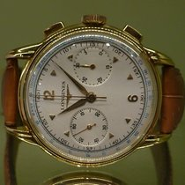 Longines vintage 1955 chronograph 30 ch gold 18ct
