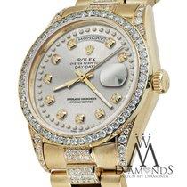 Ρολεξ (Rolex) Presidential 36mm Day Date Silver String Diamond...