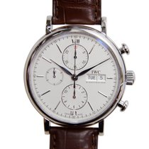 IWC Portofino Chronograph Stainless Steel Silver Automatic...