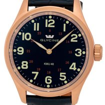 Glycine KMU 48 Kriegs Marine Uhren RG Plated Steel Mens Watch...