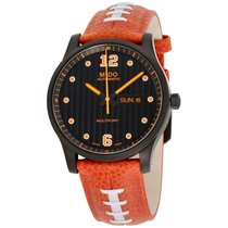 Mido Multifort Touchdown Black Dial Leather Strap Men's Watch...