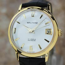 Waltham Swiss Made Men's 33mm Gold Plated Manual Vintage 1960s...