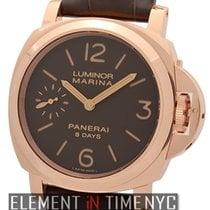 Panerai Luminor Collection Luminor Marina 8 Days 18k Rose Gold