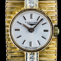 Longines 18k Y/G Diamond Set Vintage Ladies Cocktail Watch 223