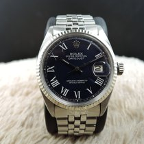 Rolex DATEJUST 1601 SS Blue Roman Dial with Jubilee Band