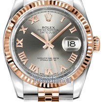 Rolex Datejust 36mm Stainless Steel and Rose Gold 116231 Steel...