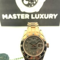 Rolex 80315 Pearlmaster White MOP Diamond Dial Rose Gold