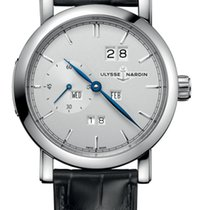 Ulysse Nardin CLASSIC PERPETUAL Steel Case Dial Silver Leather...