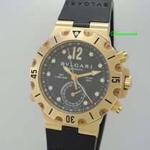 Μπούλγκαρι (Bulgari) Diagono Scuba GMT SD38 G GMT -Gold 18k/750