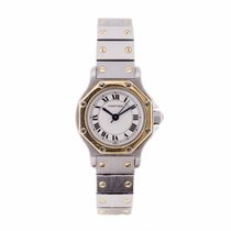 Cartier Santos Octagon Ladies Steel and Gold Automatic Watch...