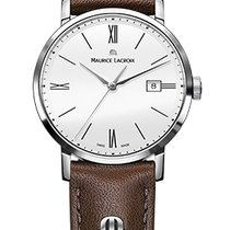 Maurice Lacroix Eliros Date Ladies White Dial, Brown Strap