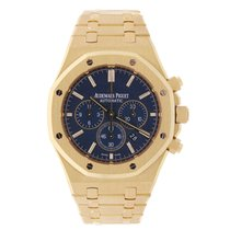 Audemars Piguet AP Royal Oak Chronograph 41 Yellow Gold Blue...