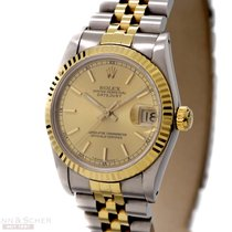 Rolex Datejust Medium Size Ref-68273 18k Yellow Gold/Stainless...