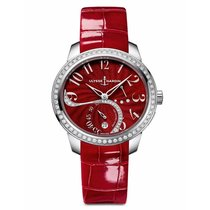 Ulysse Nardin Jade Red Dial Diamonds Ladies watch