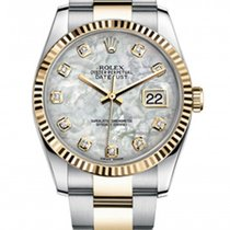 Rolex New Style Datejust Two Tone Fluted Bezel  & Mother...