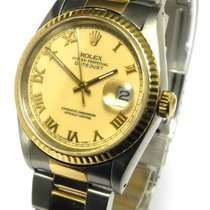 Rolex Datejust Stahl 18kt 750 Gg Ref 16233 E Serie 1990...