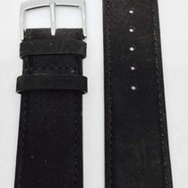 Kaufmann Nubuk Velour Classic Lederband schwarz 22/20mm 1056 50