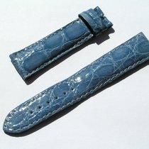 Breitling Tradema Croco Armband Band Strap 20/18mm 70/113 Blau...