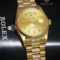 Rolex Day-Date President 18k Yellow Gold Tapestry Dial Mens...