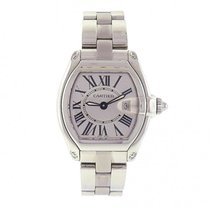 Cartier Roadster W62016V3 Stainless Steel Quartz Silver Ladies...