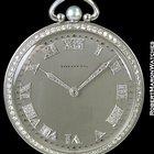 Tiffany Platinum Pocket Watch Diamond Bezels, Numerals &...