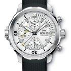 IWC Aquatimer Chronograph Silver Dial Black Rubber IW376801 T