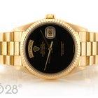 Rolex Day-Date 18238 Gelbgold Onyx Dial deutsche Anzeige
