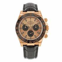 Rolex DAYTONA 18K Everose Gold Pink Dial on Leather Strap 2017