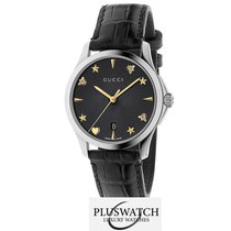 Gucci G-Timeless Automatic Black Guilloché Dial 38mm R