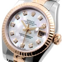 Rolex Steel & Gold 26mm Datejust Factory MOP Diamond Dial...