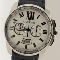 Cartier Calibre Chronograph W7100046 Automatic Date 42mm Steel...