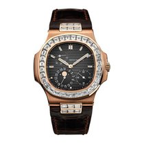 Patek Philippe Nautilus Rose Gold and Baguette Diamond