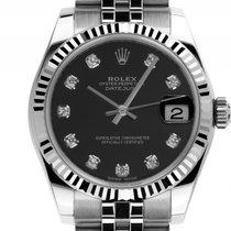 Rolex Datejust Medium Stahl Weißgold Automatik Armband Jubilé...