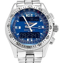 Breitling A68362 B-1 Digital Chronograph in Steel - On Steel...